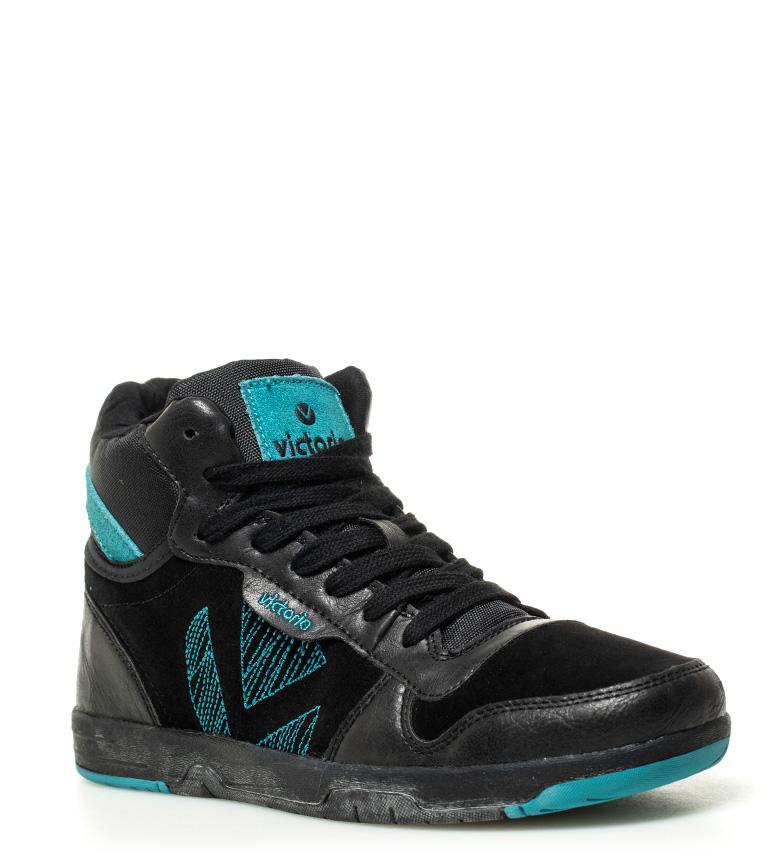 Zapatillas Victoria Negro De Piel Combinada kiOPuTXZ
