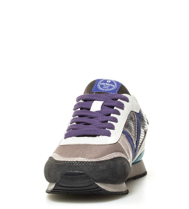 Victoria-Zapatillas-de-piel-combinada-Sintetico-Tela-Plano-Cordones-Casual