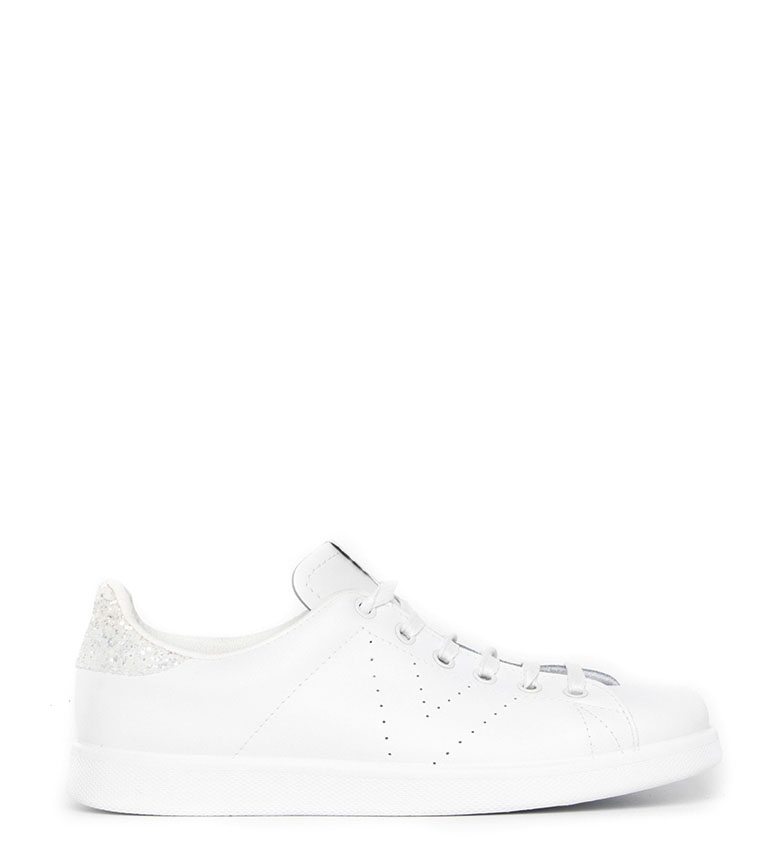 Comprar Victoria Leather sneakers Glitter fringes white