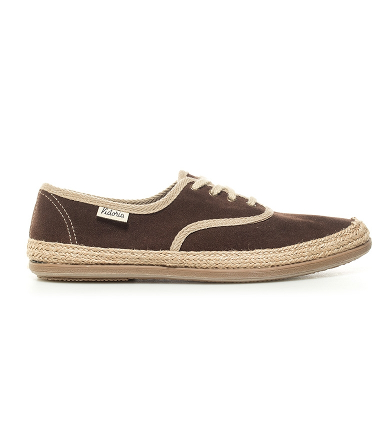 Comprar Victoria Brown leather sneakers