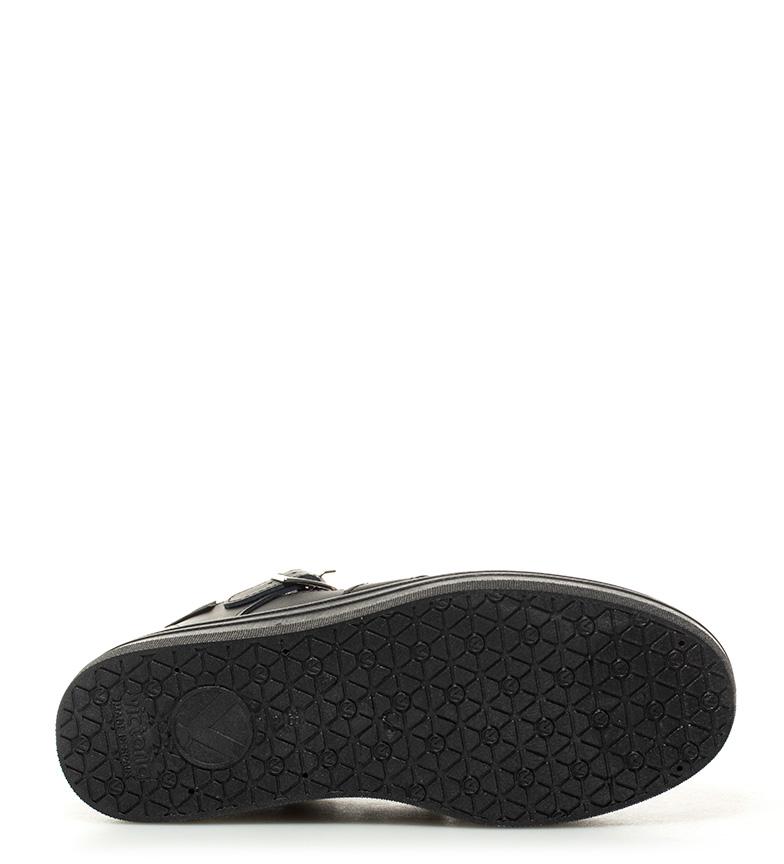 piel Victoria plataforma Altura negro 4cm de Zapatillas qBEBwrR0