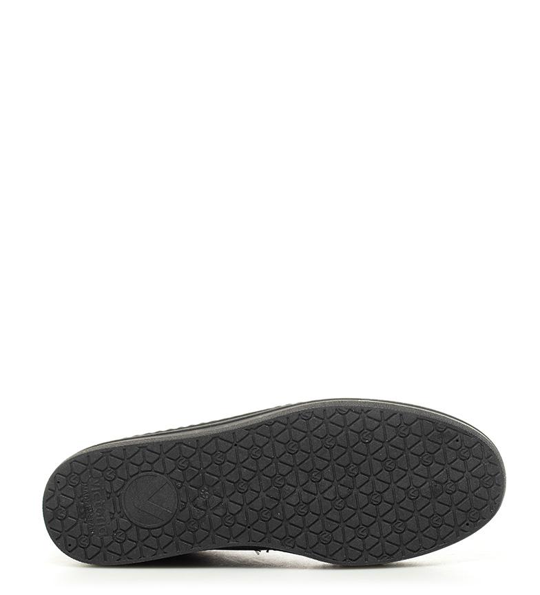 piel Zapatillas 4cm Altura plataforma de Victoria Zapatillas Victoria negro wqIFOvO