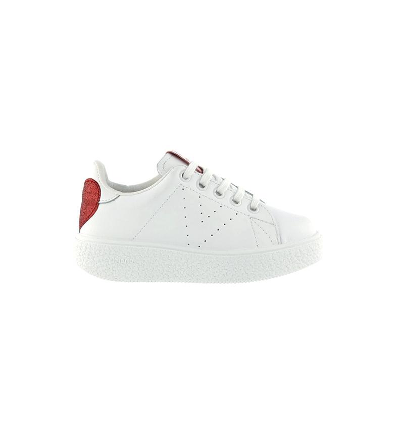 Comprar Victoria Utopia sapatos de couro branco, vermelho