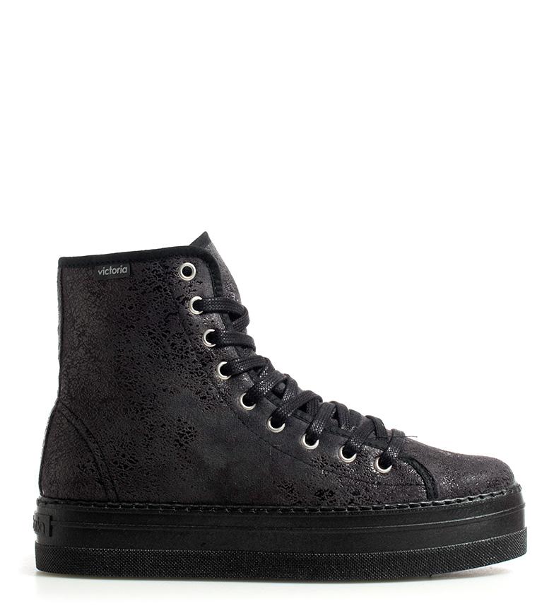 Comprar Victoria Zapatillas efecto piel negro -Altura plataforma: 4cm-