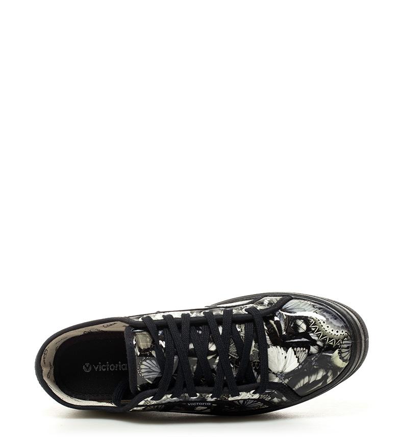 estampadas negro 4cm Victoria Zapatillas estampadas Zapatillas plataforma Victoria negro Altura aYnzxvqAn