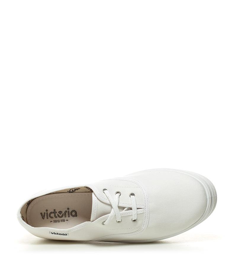 blanco Victoria Zapatillas plataforma Victoria Altura lona 5cm Zapatillas 3 OZInZ5qSP