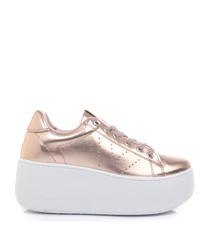 Comprar Victoria Altezza scarpe-piattaforma metallo nudo: 6,5 cm-