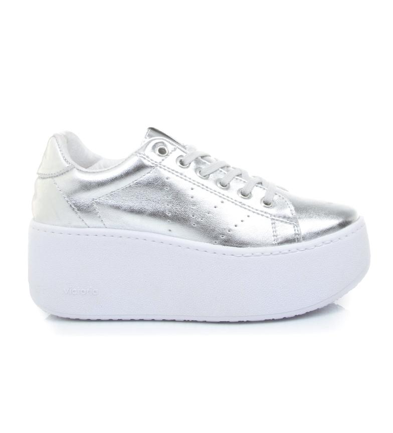Comprar Victoria Sapatos Metal prata - Plataforma alta: 6.5cm