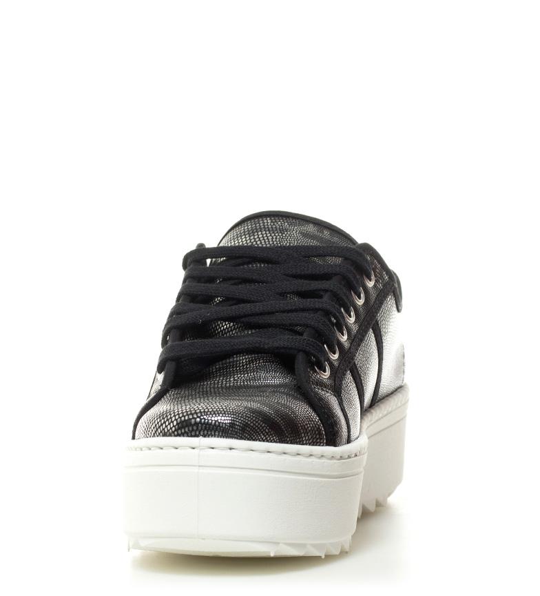 Victoria cm negro plata Zapatillas 5 Altura metalizadas 4 plataforma qrqp1xT8n