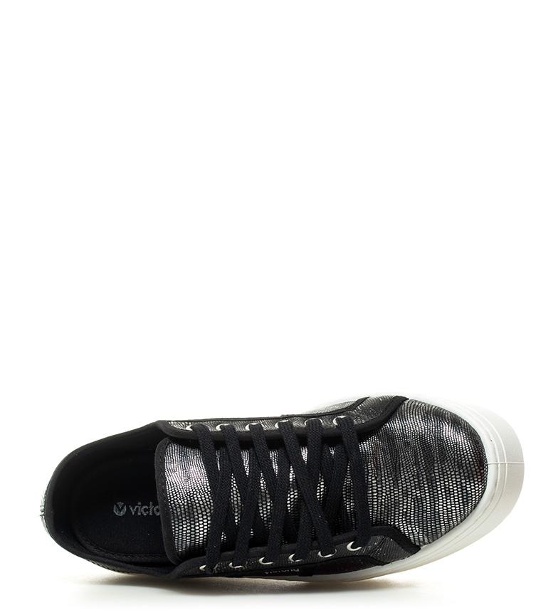 plata 5 Altura plataforma Zapatillas negro cm 4 Victoria metalizadas 0x7gnzwqga