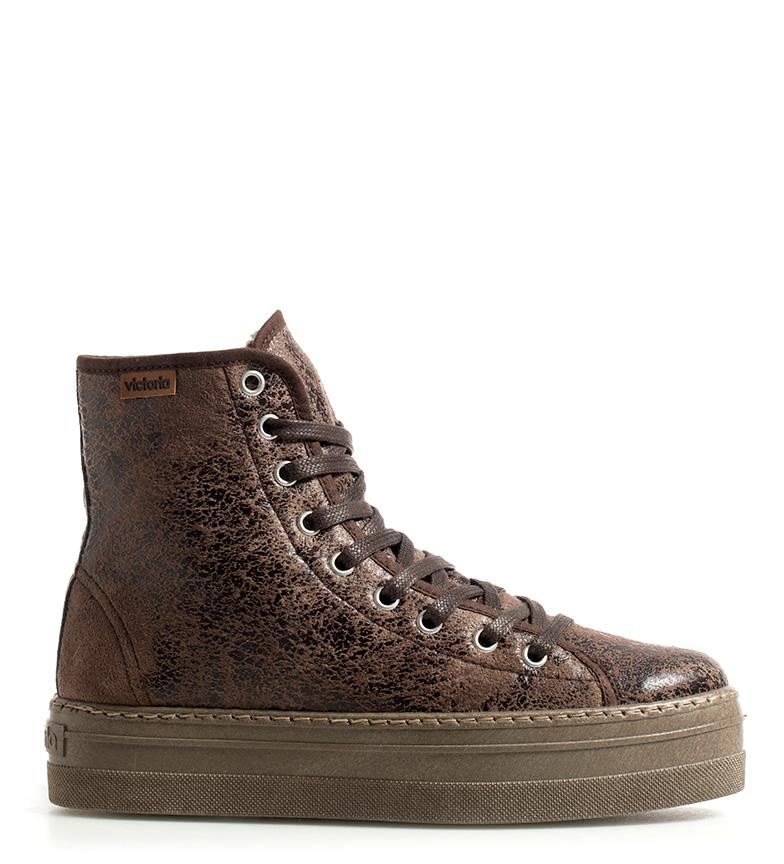 Comprar Victoria Brown leather effect shoes - Platform height: 4cm-