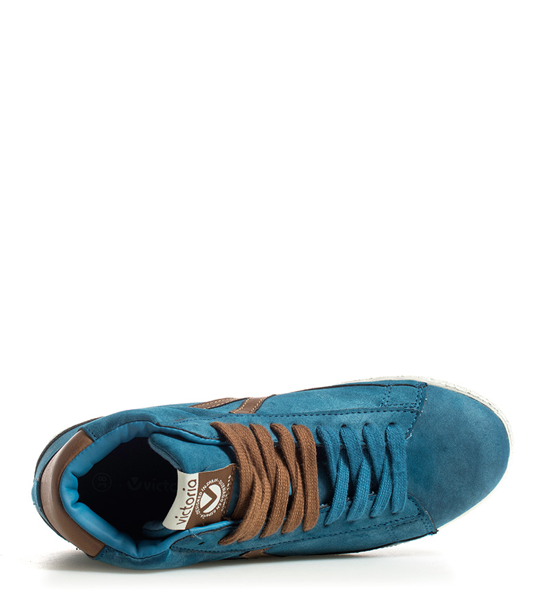 Zapatillas Victoria Victoria Zapatillas Abotinadas Azul 0wk8nOP