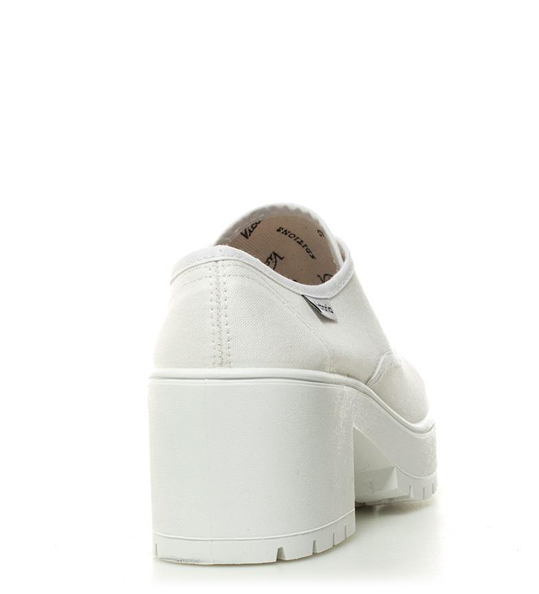tacón Altura lona Victoria blanco Zapatos 7cm OYSqxIT