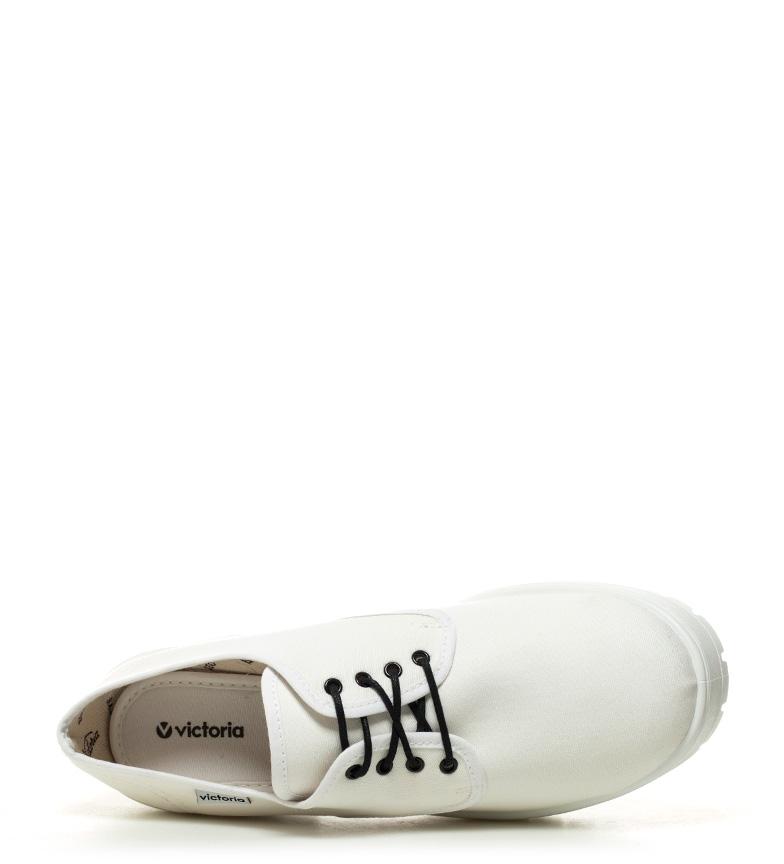 Altura Zapatos 7cm blanco Victoria lona tacón qRY41tw