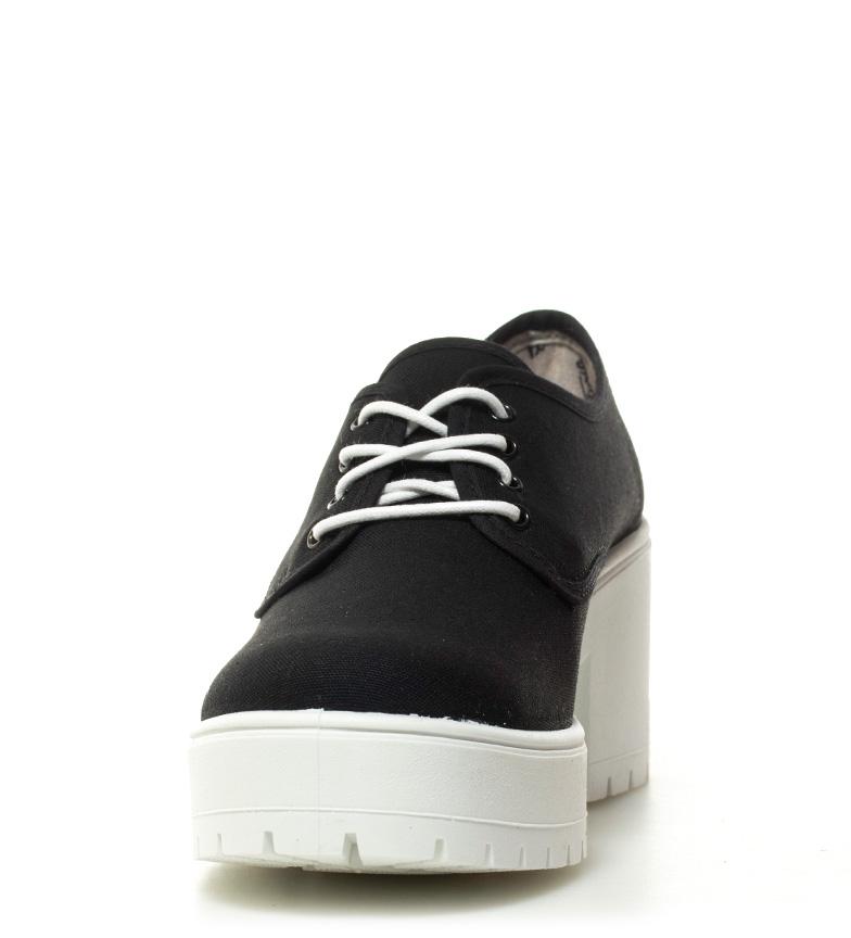lona 7cm Zapatos tacón lona Zapatos Victoria Victoria Altura negro Altura negro H7wtxqHRF