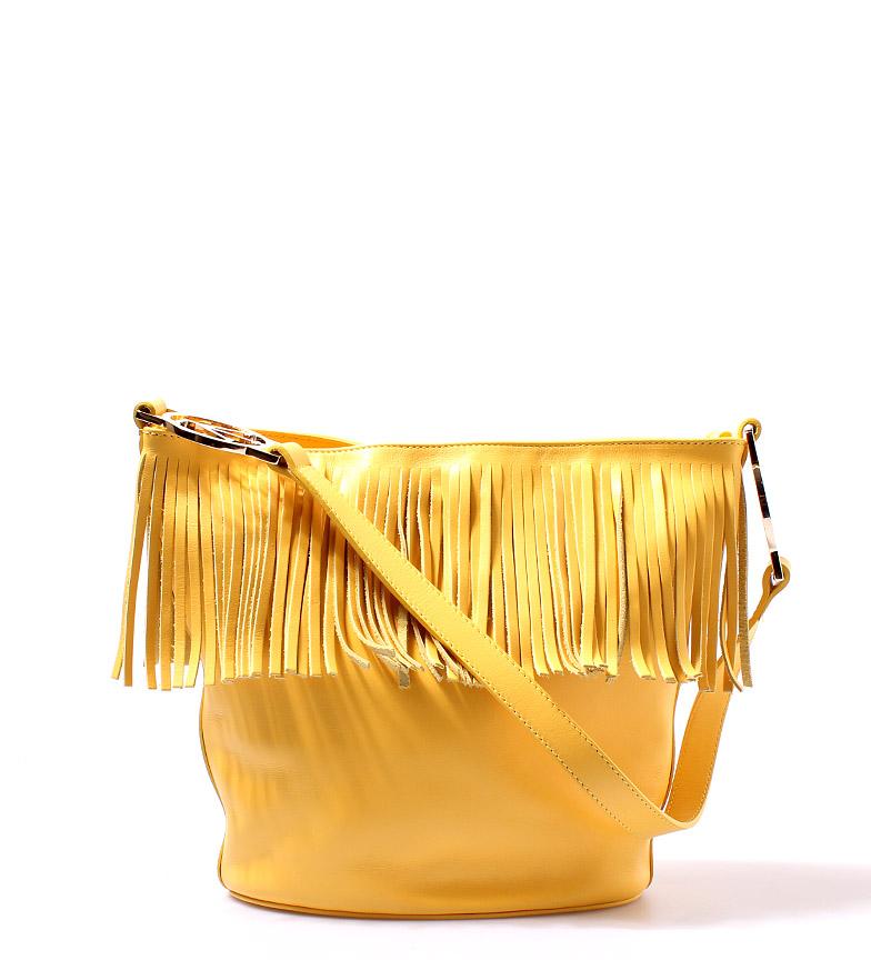 Comprar Victorio & Lucchino, V&L Sac en cuir rond jaune 24,5x21,5x12cm-