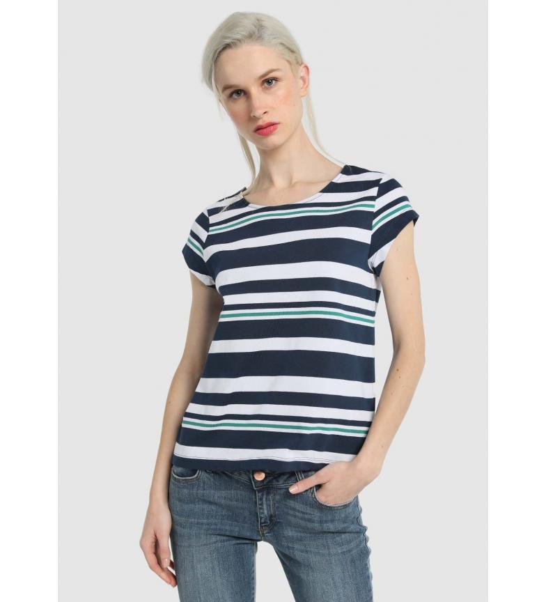 Comprar Victorio & Lucchino, V&L Top Stripes Branco, fita azul
