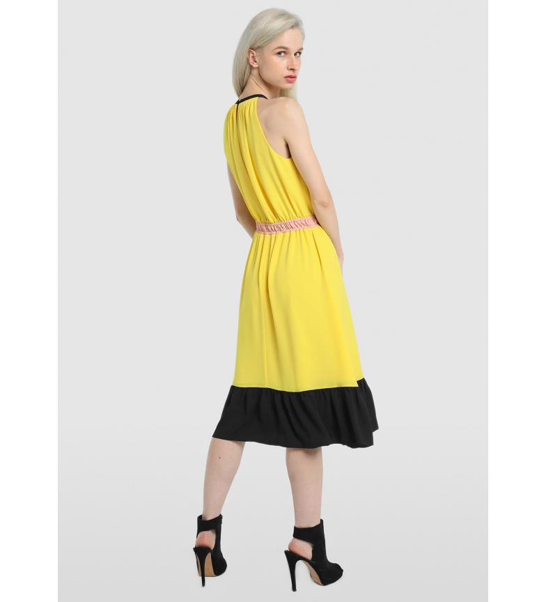 Comprar Victorio & Lucchino, V&L Halter dress yellow, black, pink