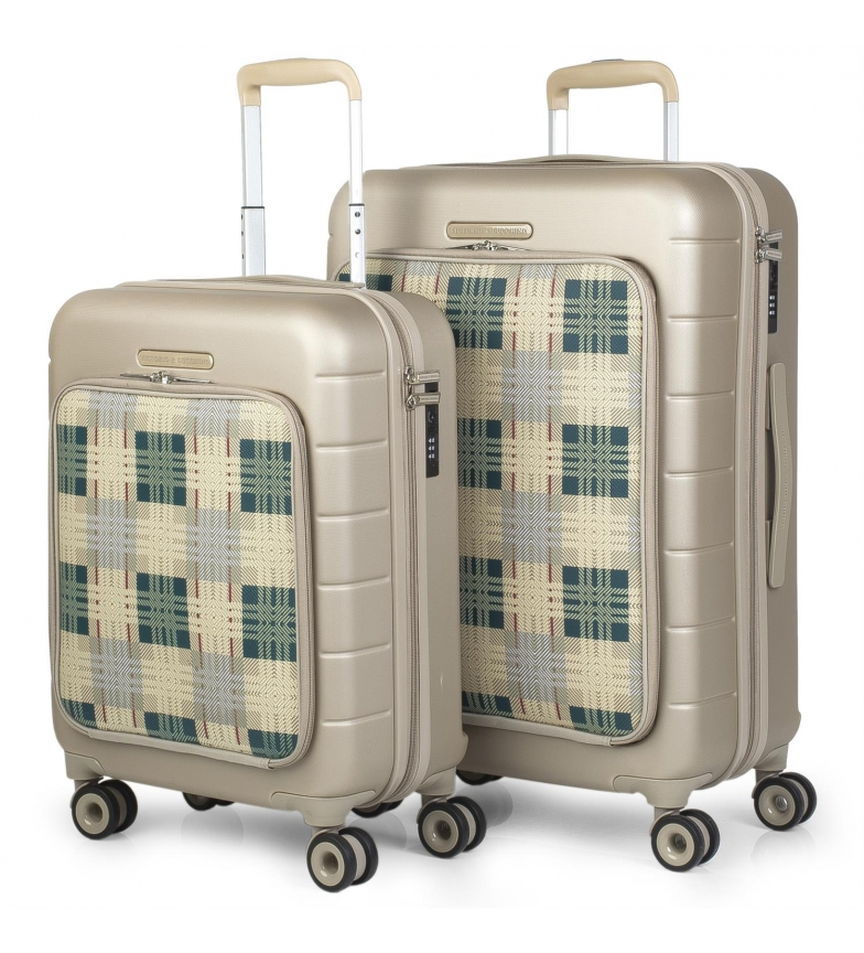 Victorio & Lucchino, V&L Travel Luggage Set 56200 champagne -66x43x25 cm