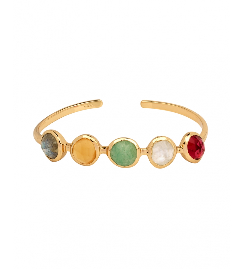 VIDAL & VIDAL Pulseira Sonhos pedras coloridas ouro 18Ktes