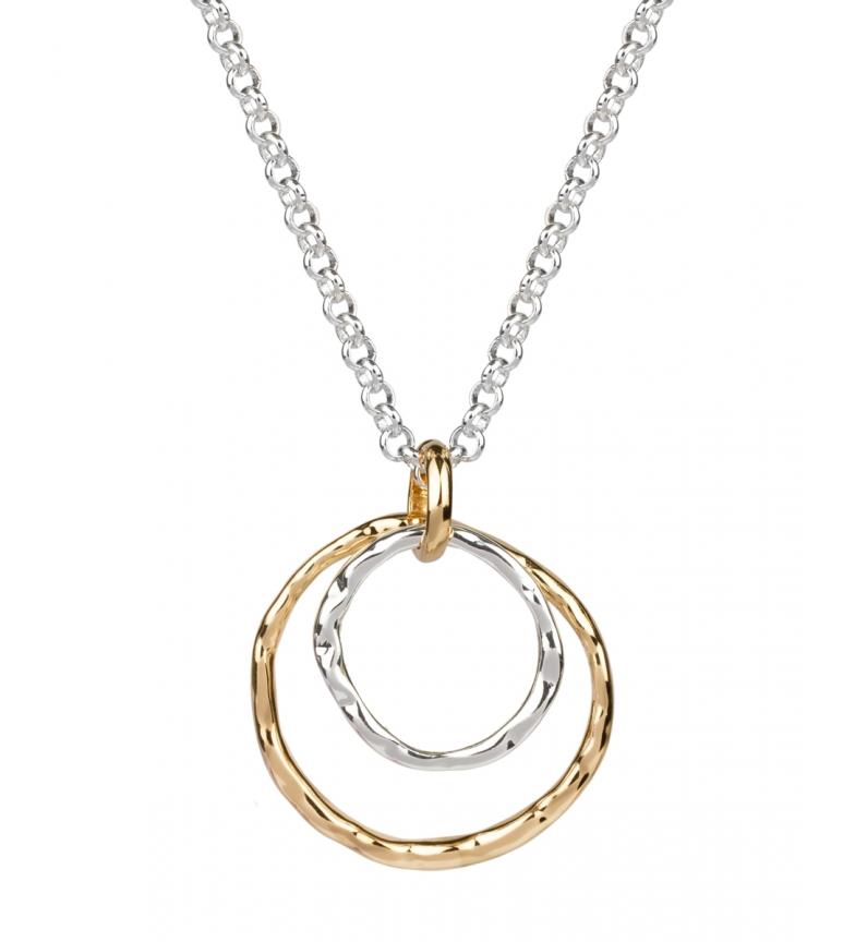 VIDAL & VIDAL Colgante Essentials doble círculo plata, oro