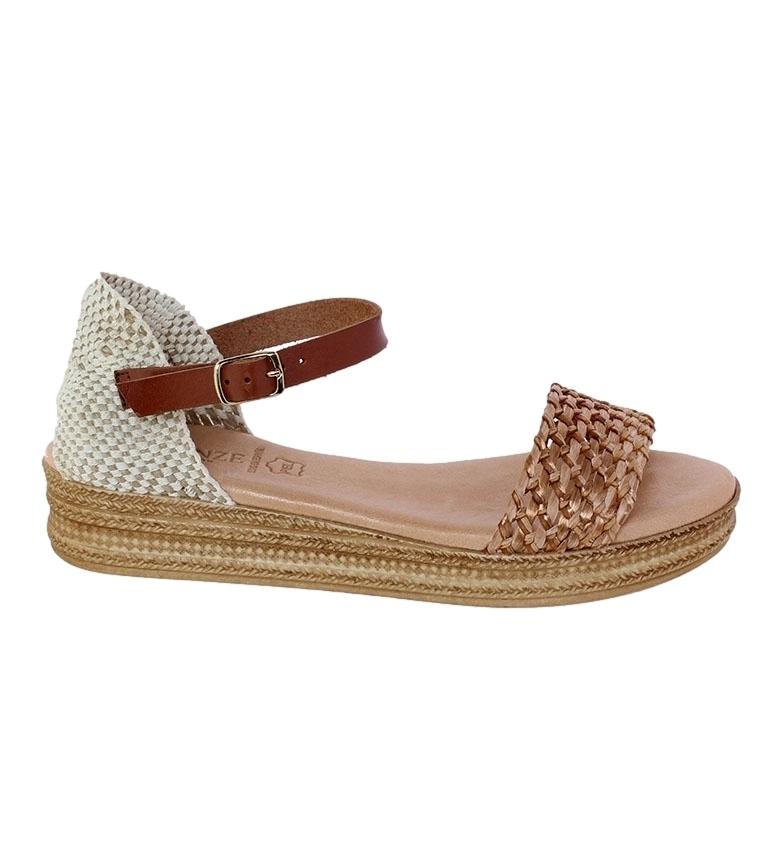 Comprar VISANZE Sandalias de piel Rosa marrón
