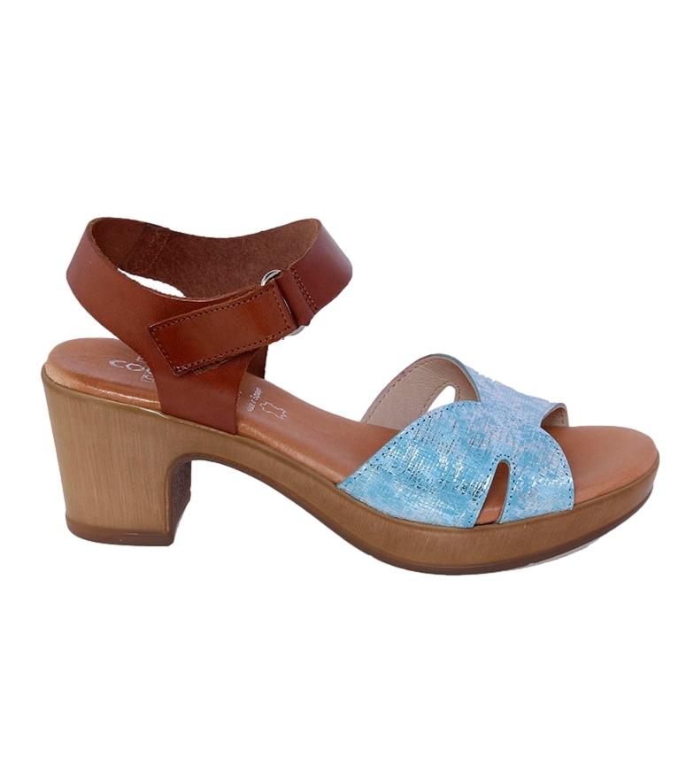 Comprar TT COQUETTE Sandálias de couro Martina marrom, azul - altura da roda: 6cm