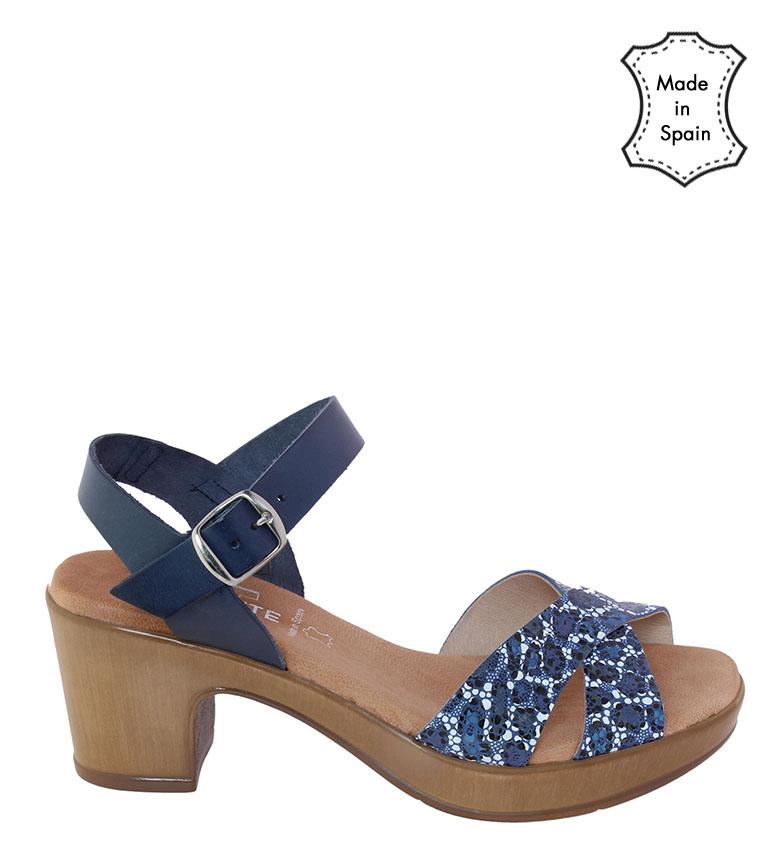 Comprar TT COQUETTE Sandale en cuir bleu Raquel - hauteur talon : 6cm