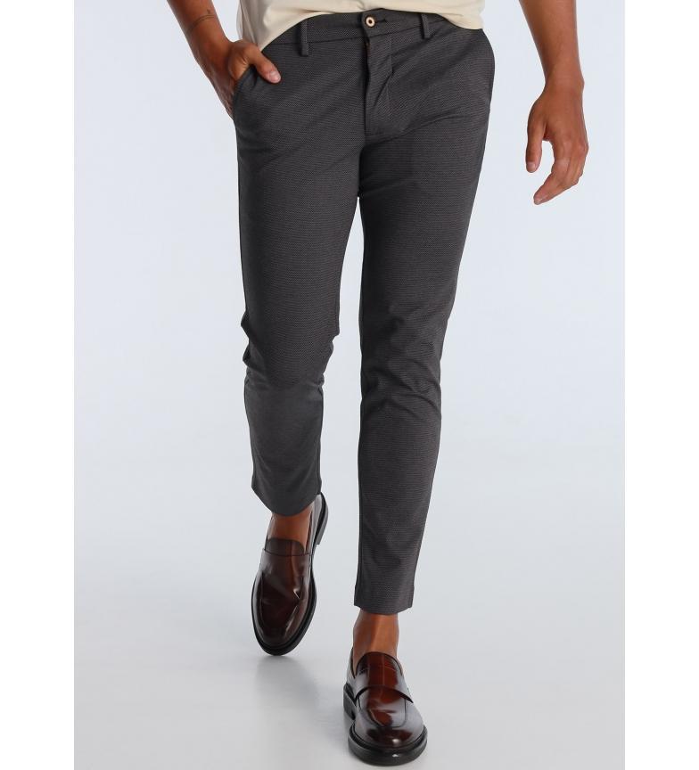 Victorio & Lucchino, V&L Pantaloni chino in tessuto grigio