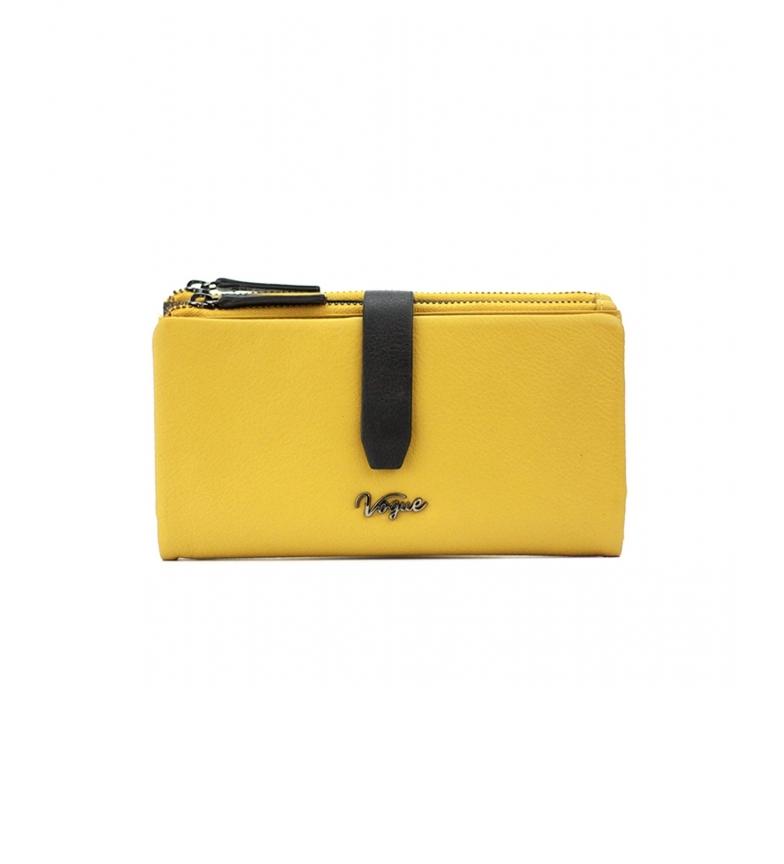 Comprar Vogue Portafoglio in pelle gialla Davis -9,5x17,5cm-