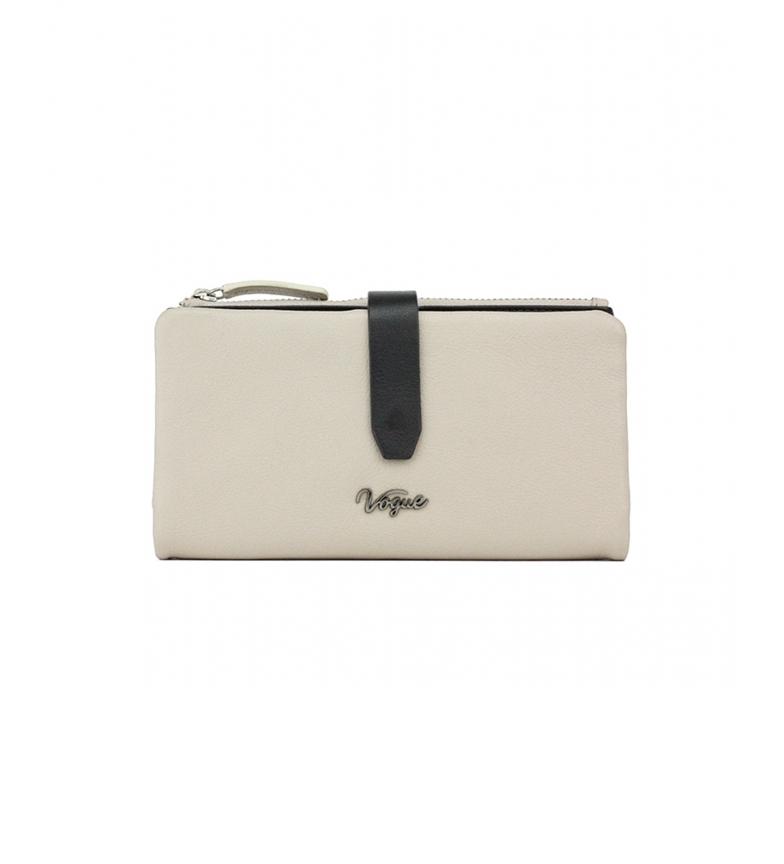 Vogue Portafoglio in pelle beige Davis -9,5x17,5cm-