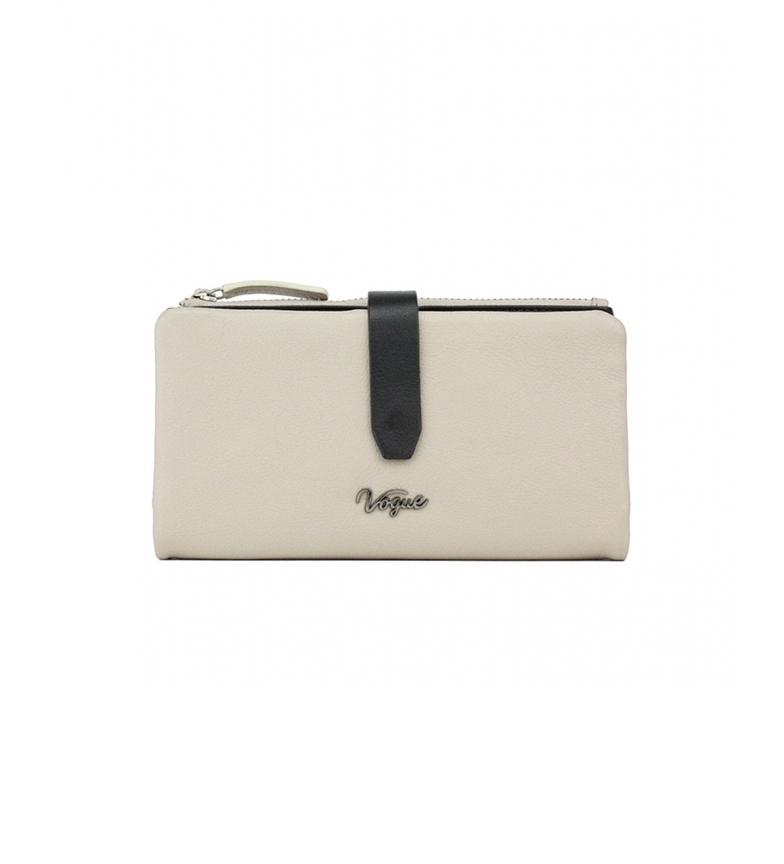 Comprar Vogue Portafoglio in pelle beige Davis -9,5x17,5cm-