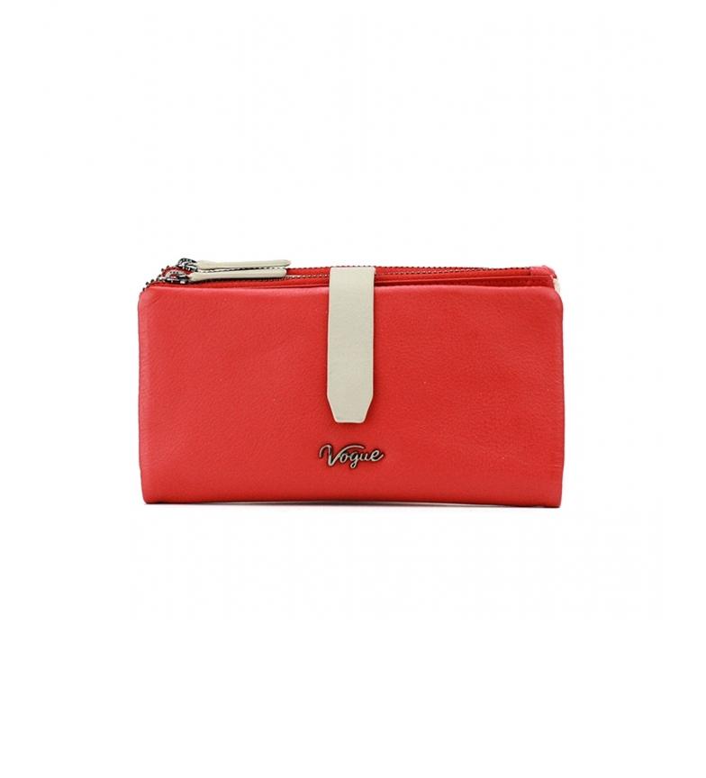 Comprar Vogue Portafoglio in pelle rossa Davis -9,5x17,5cm-
