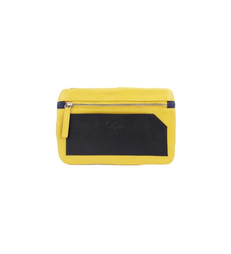 Vogue Porta cellulare Bette giallo in pelle -10,5x17cm-