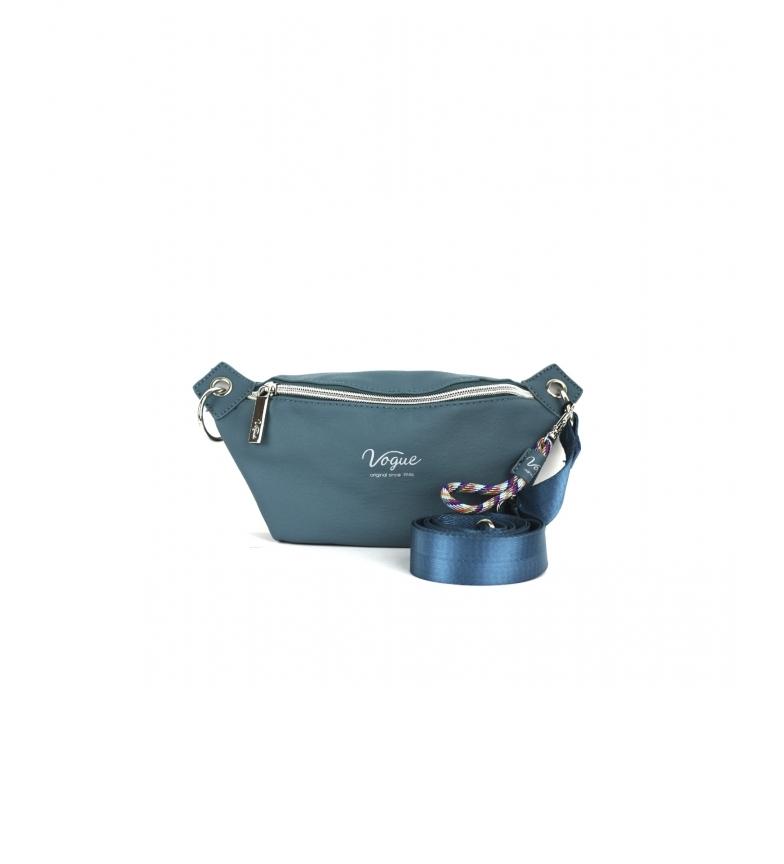 Vogue Vegan Leather Bum Bag blue -18x24x5cm