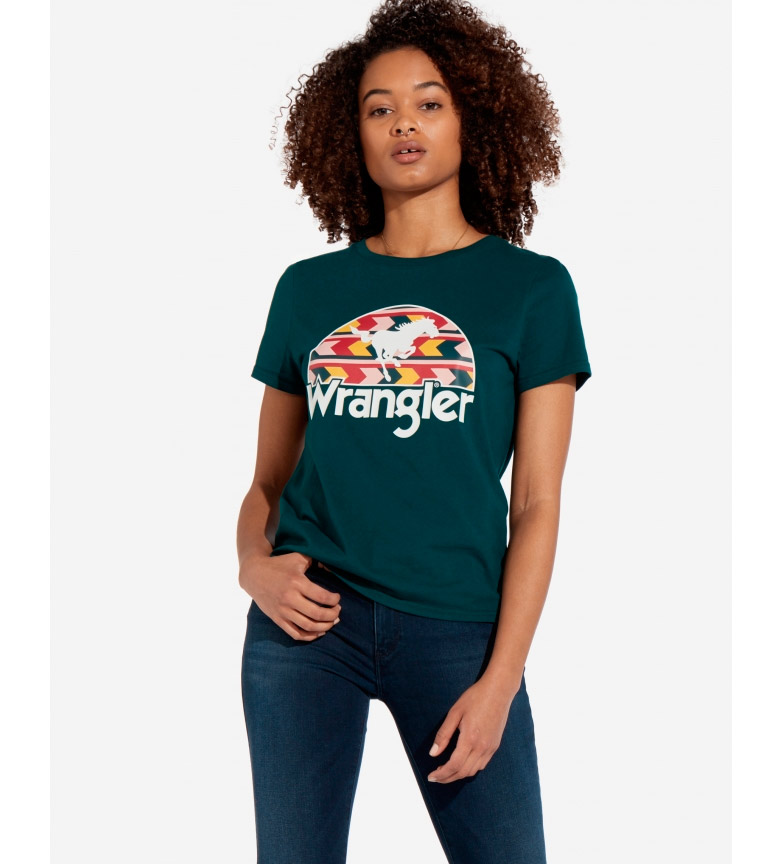 Comprar Wrangler Round T-shirt green