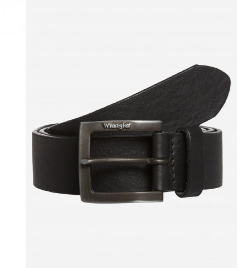 Comprar Wrangler Cintura in pelle nera con fibbia Kabel