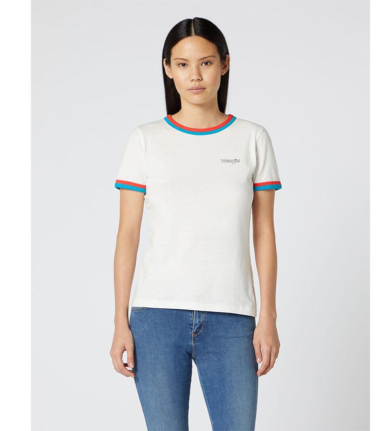 Comprar Wrangler T-shirt double anneau blanc