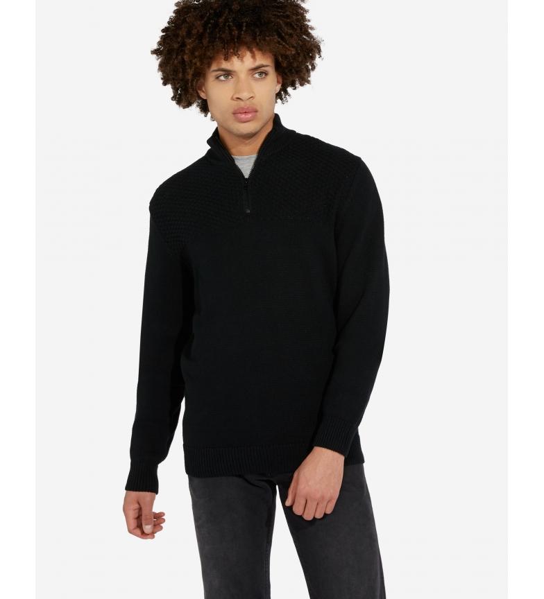 Comprar Wrangler Suéter de malha meio zíper preto
