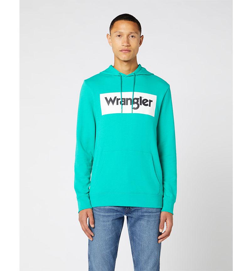 Comprar Wrangler Felpa con logo verde