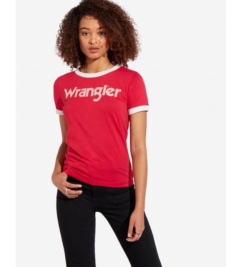 Comprar Wrangler Ringer T-shirt T-shirt vermelho