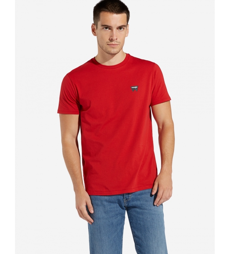 Comprar Wrangler T-shirt SS Sign Off rouge