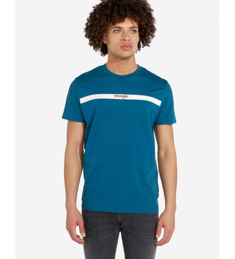 Comprar Wrangler T-shirt SS Stripe Logo blue