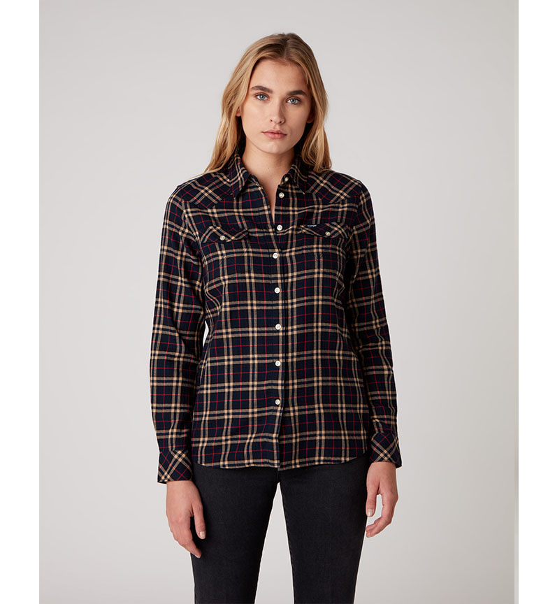 Comprar Wrangler Western Check Marine Shirt