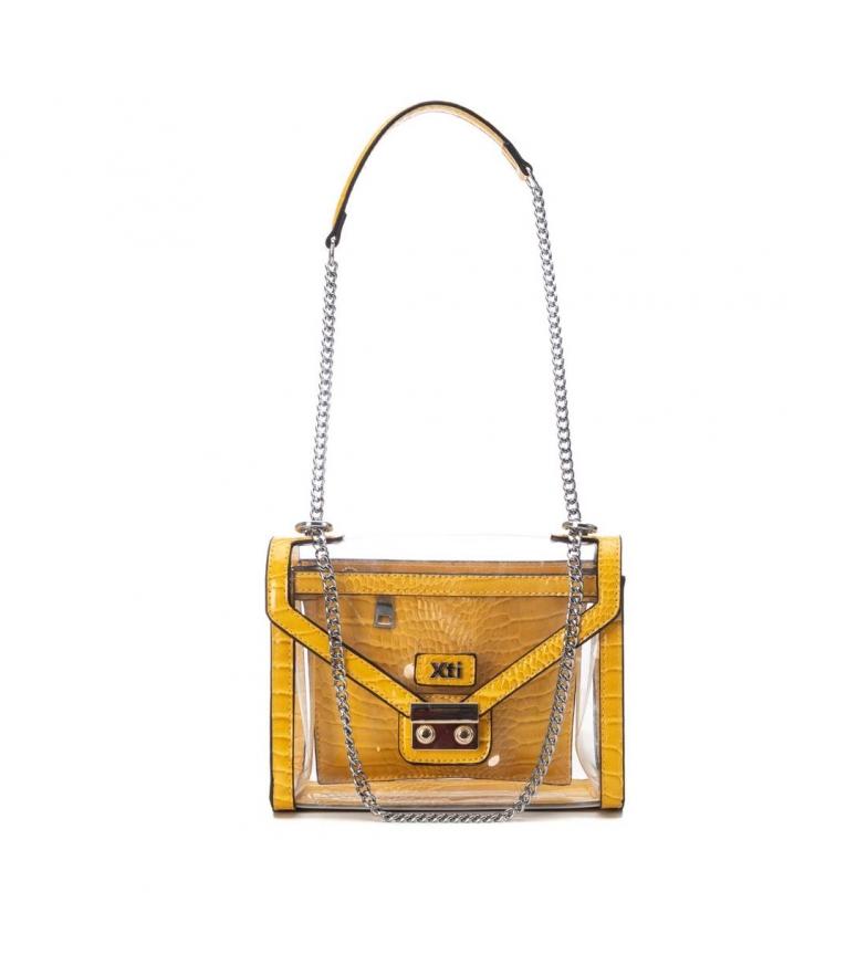 Xti Bolsa de mão 086416 transparente, amarelo - 16x22x8cm