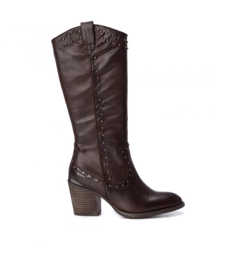Comprar Xti Bota alta 049445 castanha - Altura do calcanhar: 7 cm
