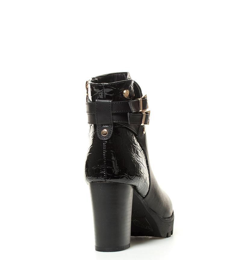 Xti Botines Celia negro Altura tacón: 8 cm