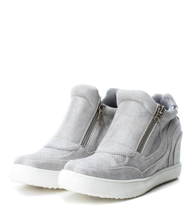 Xti abotinadas Zapatillas Zapatillas interna Altura 8 cuña cm plata Xti Rwdqqx6PA