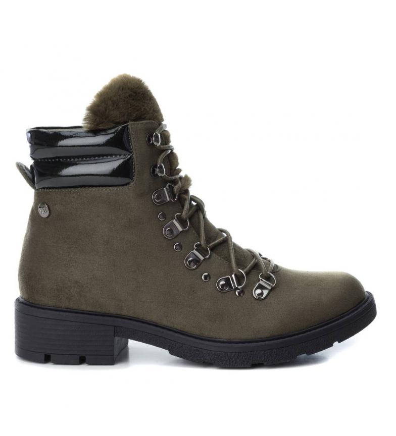Comprar Xti Flat ankle boot lace 048377 kaki