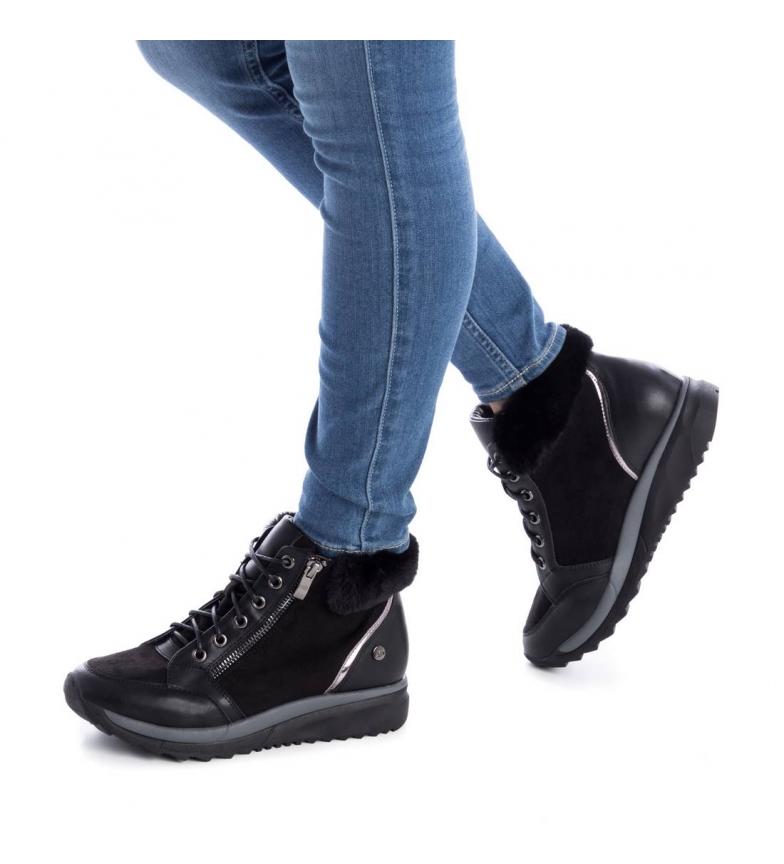 Plat 3 Basses Femme Xti 048621 À Tissu Noir 5 Gris Synthétique Chaussures x1AqBawq8R